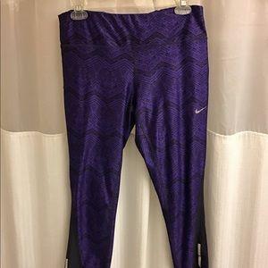 Nike dri fit running ankle pant workout leggings L